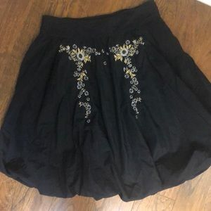 Anthropologie odille embroidered skirt